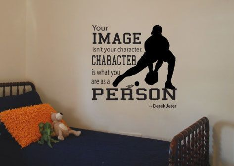 Derek Jeter Quote Vinyl Wall Art Decal. Your by designstudiosigns. Love this for a little boys room!!