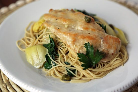 Chicken With Artichokes and Angel Hair: Artichokes, capers, and ...