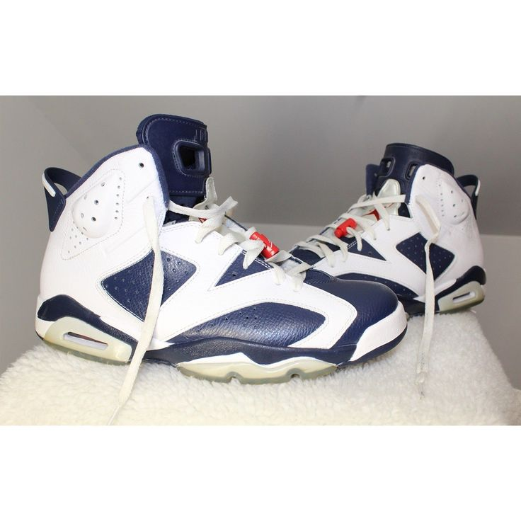 Nike 2012 Air Jordan 6 VI Retro Size 11 Olympic Navy Red 384664-130