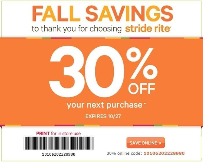photo about Stride Rite Printable Coupon identified as stride ceremony printable discount coupons solnet sy Minouette