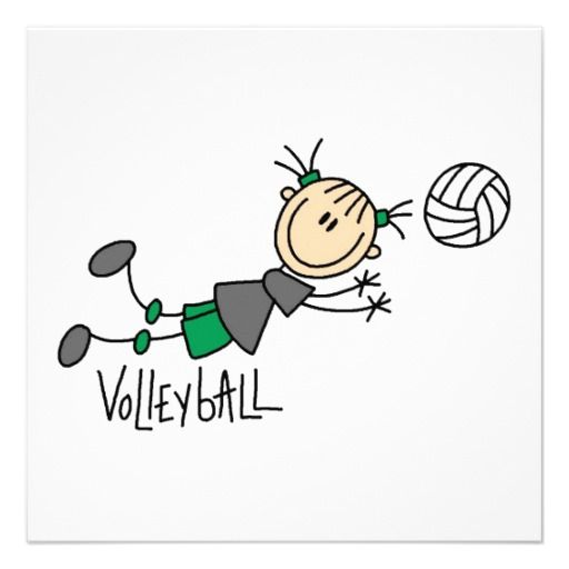 Image result for volleyball stick figures