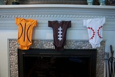 A Peek at the Pachecos: All Star Baby Shower    Football in the center - Green Bay on either side