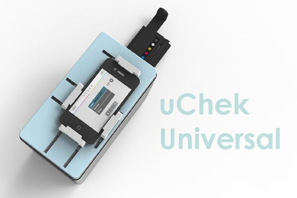 The uChek Universal converts your phone into your own personal medical lab.  The uChek Universal + App puts more health data at your fingertips than ever before.  It measures 14 health parameters using routine urine analysis, provides day-to-day analytics, and, importantly, enables regular monitoring for early warning markers for more than 25 medical conditions, including complications of diabetes, pregnancy, kidney disease and urinary tract infections.