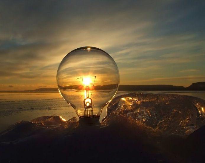 Soleil dans une ampoule