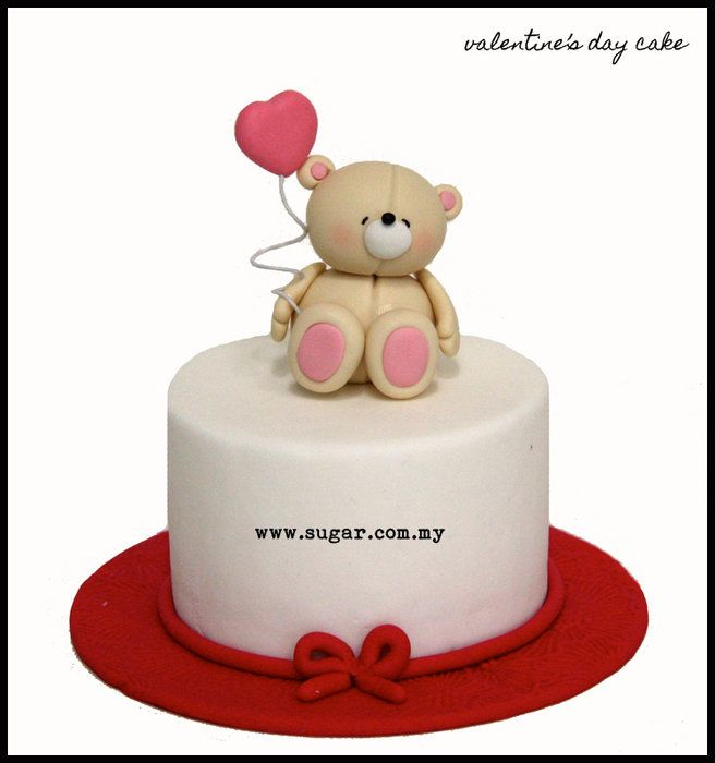 We made this specially for Valentine's Day and this is definitely one of our personal favorite! What's not to love about the adorable Forever Friends teddy!?  Visit us at www.facebook.com/loveacupcake to view more of our creations!