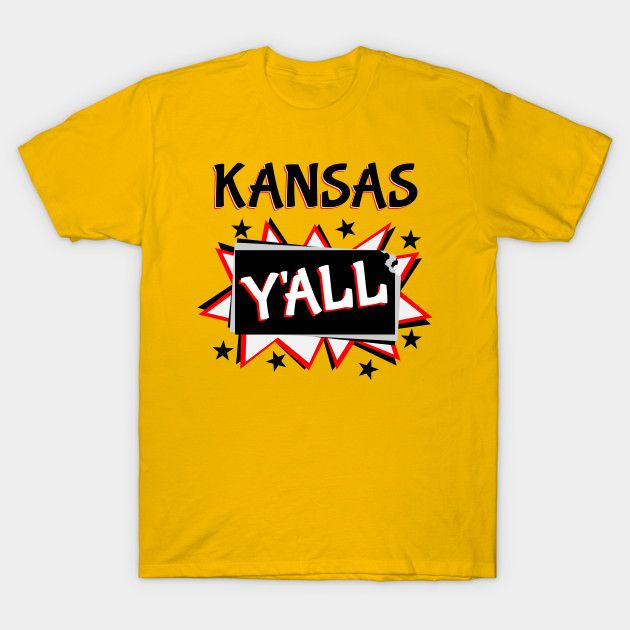 Kansas y'all t-shirt comic book starburst style