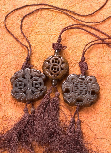 Double Happiness/Ancient Coin Necklaces | Chinese Accessories | Jewelry | Jade