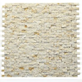 solistone 10pack modern beige natural stone mosaic subway wall tile