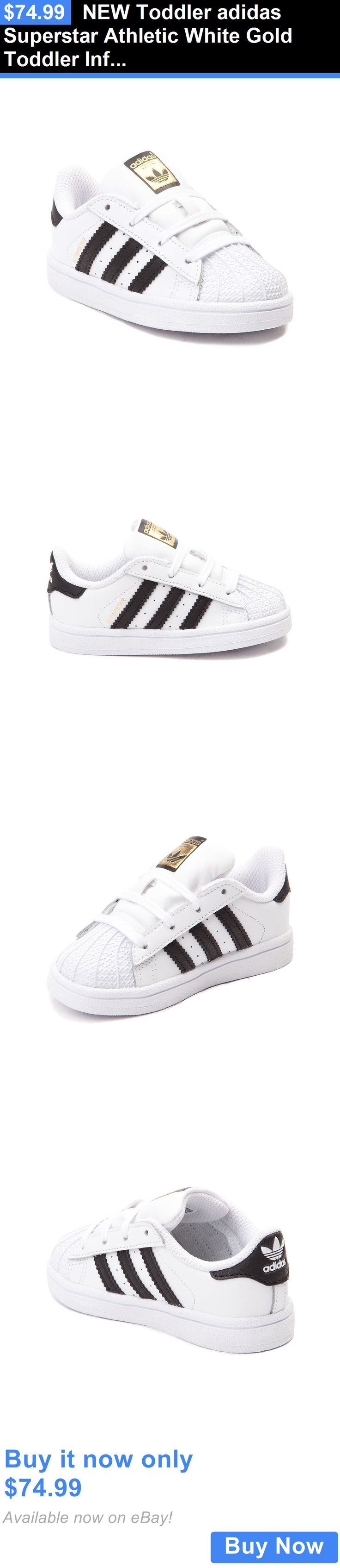 Infant Shoes: New Toddler Adidas Superstar Athletic White Gold Toddler Infant Boys Girl Shoe BUY IT NOW ONLY: $74.99