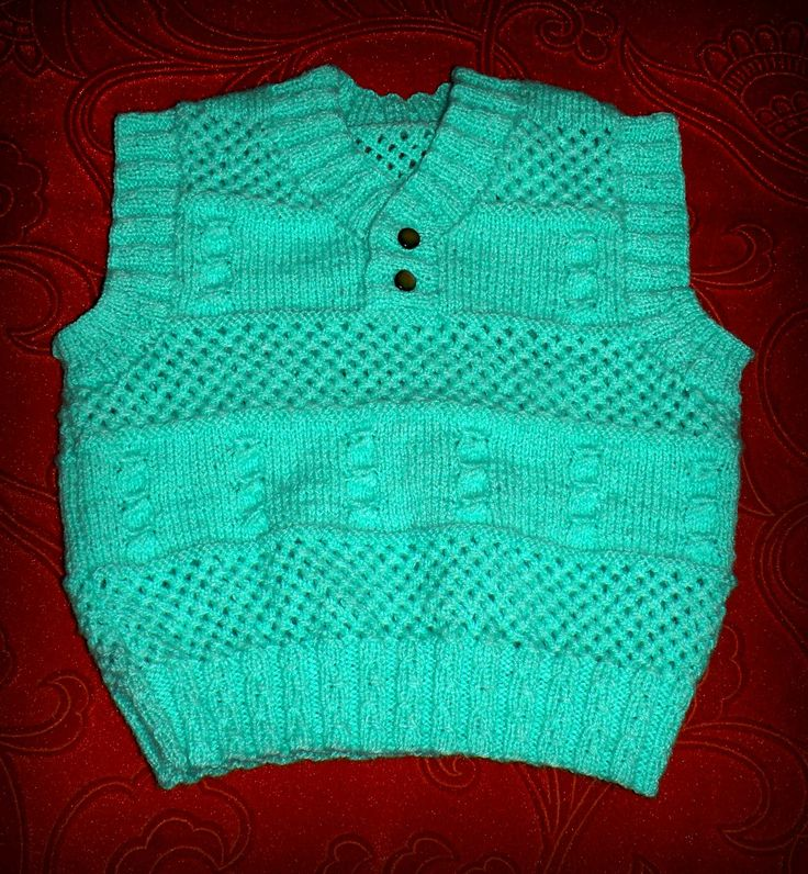 Knitted sleeveless pullover