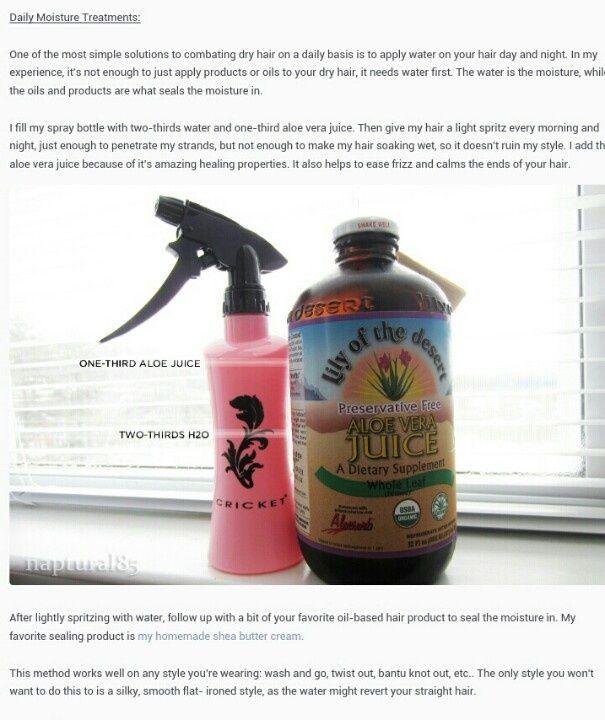 Water Based Moisturizer For Natural Black Hair