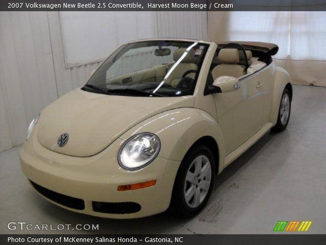 2007 volkswagen beetle convertible | Harvest Moon Beige 2007 Volkswagen New Beetle 2.5 Convertible with ...