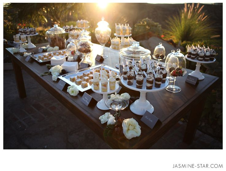 what a beautiful dessert table, do you LOVE @Kristen - Storefront Life Kelley? Have yours and steve's fav desserts!