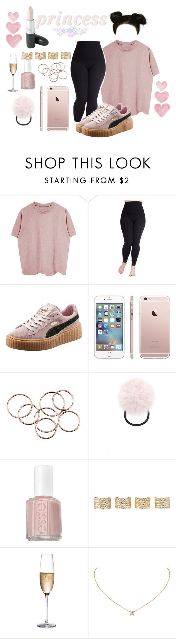 """""""Overtime"""" by princessfilthy ❤ liked on Polyvore featuring Puma, Forever 21, Essie, Maison Margiela, Rogaska, MAC Cosmetics, Shabby Chic and plus size clothing"""