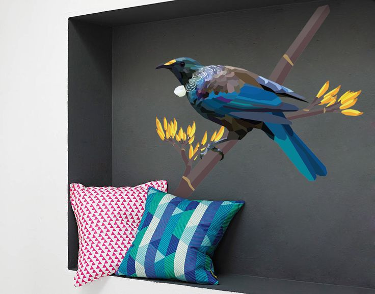 Geometric Tui | YOUR DECAL SHOP | NZ Designer Wall Art Decals | Wall Stickers | Wall Murals