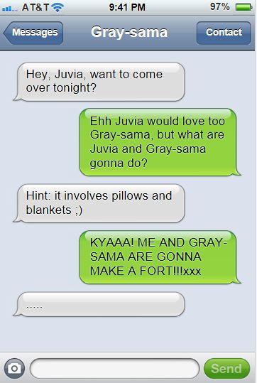 Gruvia text messages