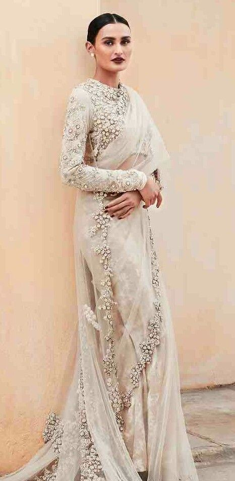 Off white #Sabyasachi blouse and saree