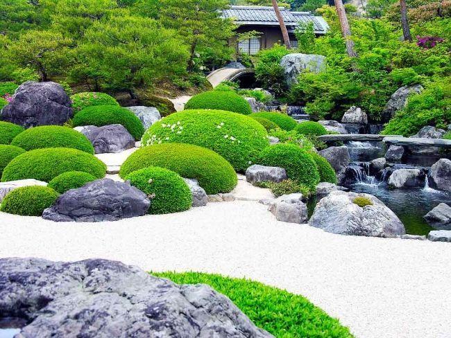 Japanischer Garten Moos Steine Weisser Kies Teich Schonegarten Japanischer Garten Moos Steine Weisser Kies Teich