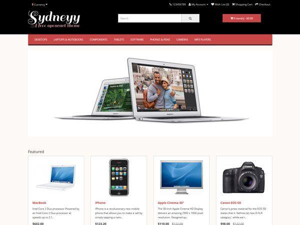 Sydneyy OpenCart Theme