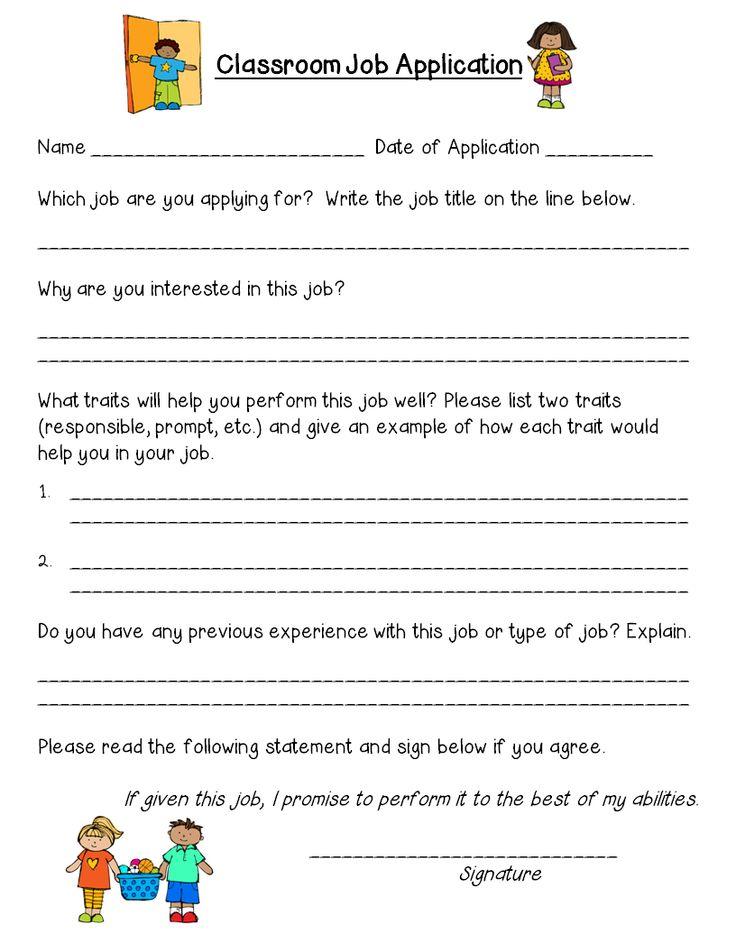 The 25+ best Classroom Job Application ideas on Pinterest | Apply ...