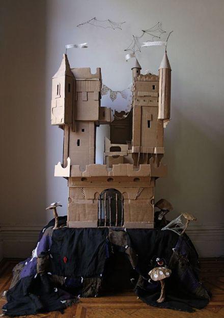 Cardboard castle by Ann Wood