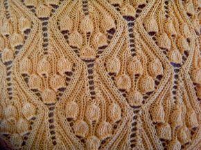 Винтажные колокольчики. Узор для спиц. - запись пользователя Марина в сообществе Вязание спицами в категории Вязание для женщин спицами. Схемы вязания спицами