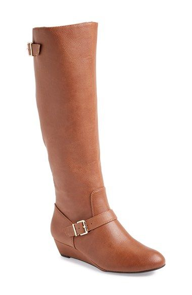 I love a flat boot for comfort, but a bit of a wedge for height. These look perfect!
