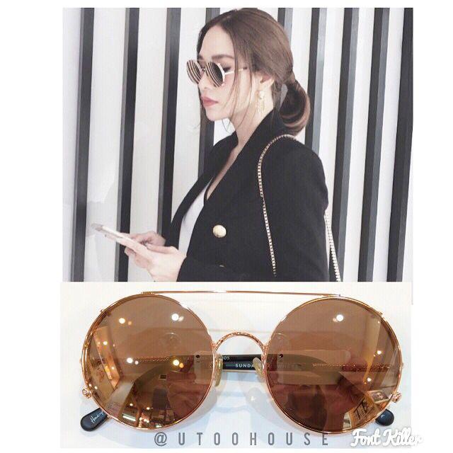 "Sunday Somewhere sunglasses ""valentine"" model Rose gold"