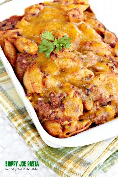 Sloppy Joe Pasta | Can't Stay Out of the Kitchen | This delightful #beef dish combines the taste of #SloppyJoes with #pasta. Wonderful! #Tex-Mex #Italian