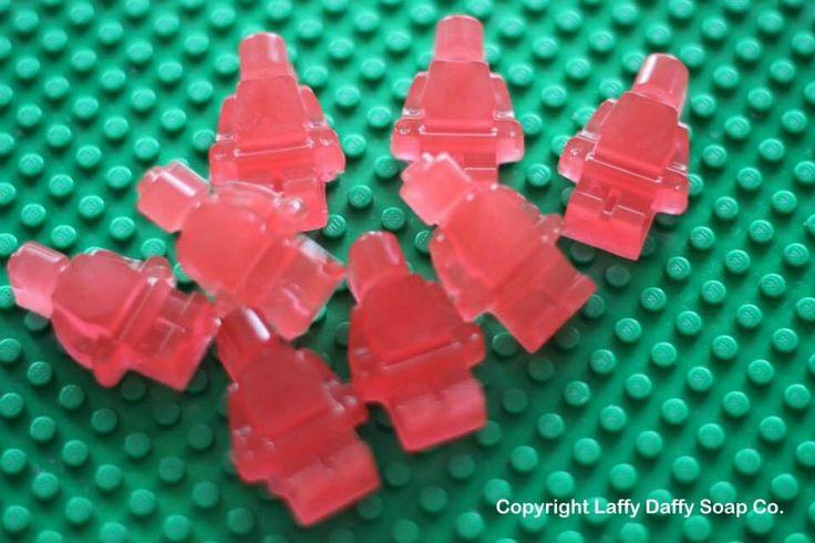 Lego style mini men soaps