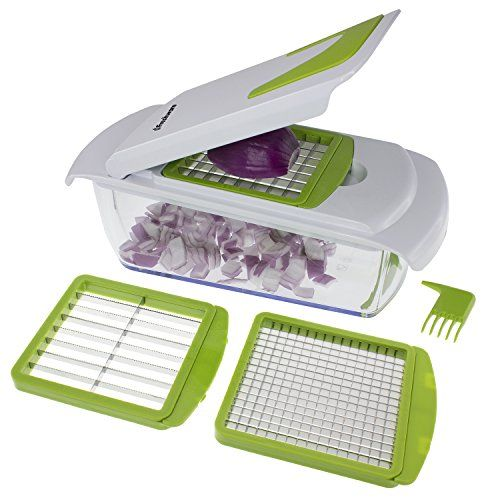 KITCHEN || Freshware KT-405 4-in-1 Onion Chopper, Vegetable Slicer, Fruit and Cheese Cutter Container with Storage Lid