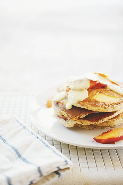 Spiced Peach Pancakes