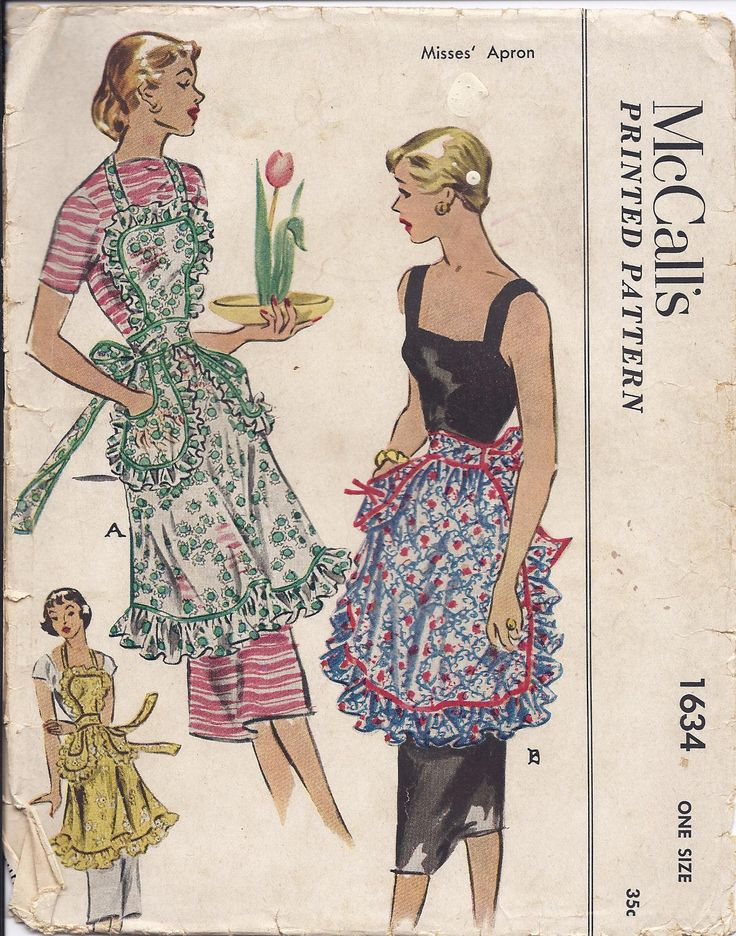 McCalls #1634 - Dated: 1951 - Made this and gave it to a friend!!! Forgot to take pictures of it though! Very cute! I love the fact the pockets are not attached to the apron!!