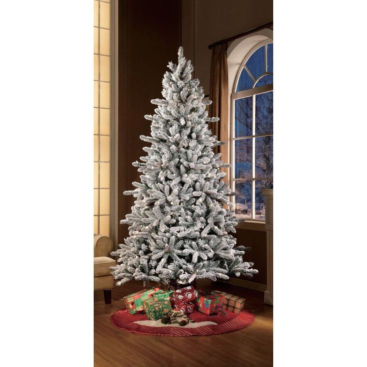 Artificial Christmas Tree 7.5 Ft Xmas Home Pre Lit Big Size Accents With Stand #ArtificialChristmasTree