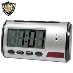 This digital alarm clock will easily blend in anywhere; only you will know that it is actually a DVR, recording sight and sound.  It is perfect for covert surveillance, such as keeping an eye on the babysitter, watching what employees are doing, etc.  There are many inferior units on the market that look similar to ours on the outside, but are much different on the inside.