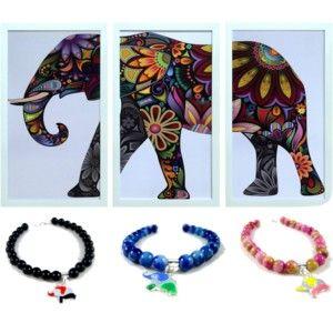 Bratara realizata manual din pietre semipretioase si un elefant din argint, pictat manual cu email. Siver handcrafted bracelt, made with semi-precious stone. #jewelry #silver #bracelet #bratara #argint #talisman #roxoboutique