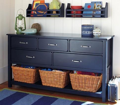 pottery barn captain america boy room | Storage Furniture - Camp Extra-Wide Dresser | Pottery Barn Kids - navy ...