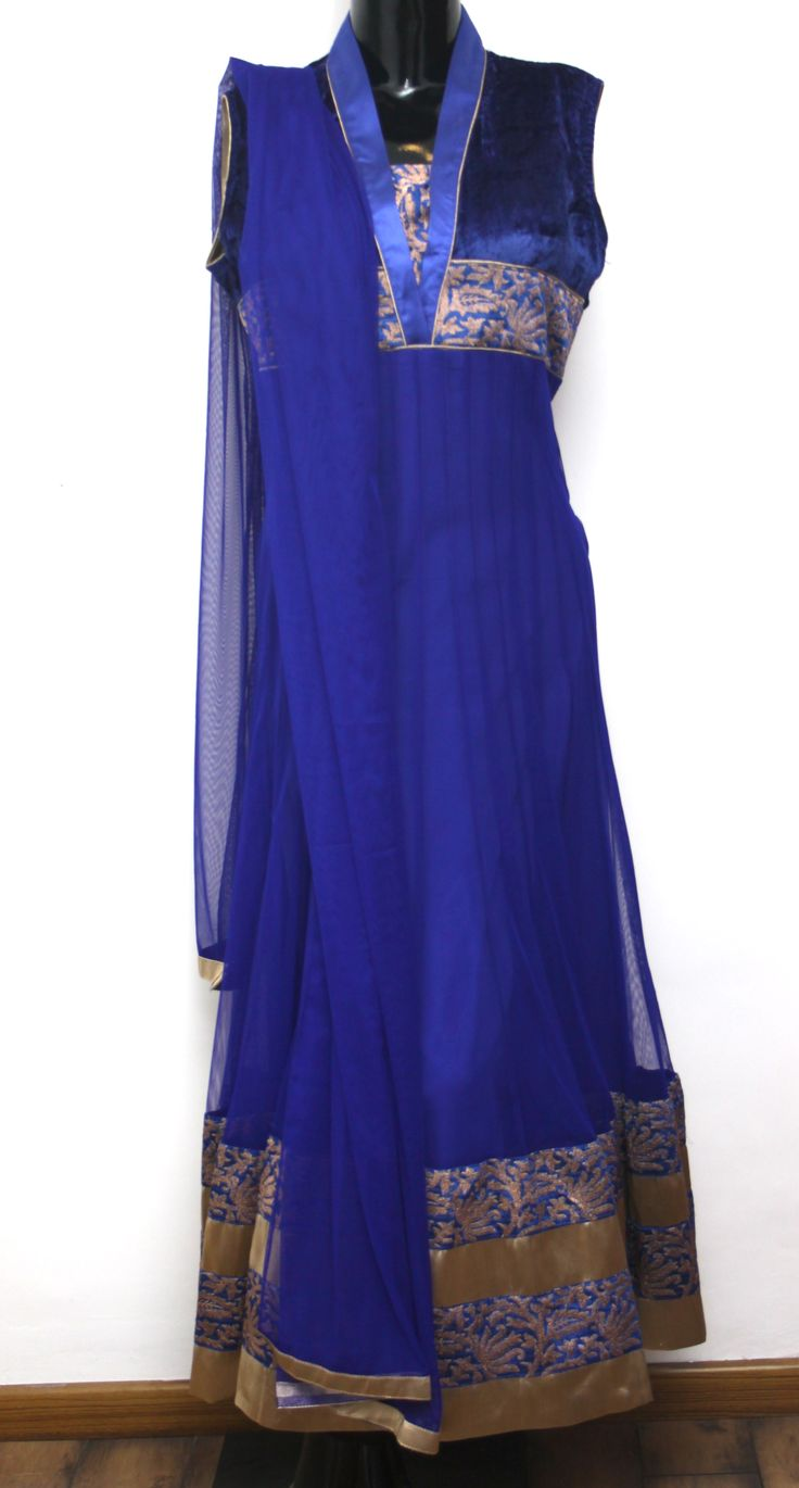 Electric blue Anarkali Salwar Suit Net Dupatta With Border Code 2165 INR 5650/- Visit us at ZIA, Adyar, Chennai or SHOP ONLINE @ ZIA, Adyar with a simple mail. Products delivered to your Doorstep. Inquiries: info@ziaethnic.com / 044 - 43605070.