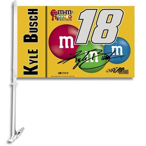 Kyle Busch #18 NASCAR Car Flag
