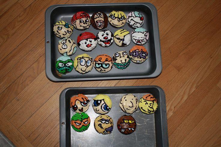 Childhood 90s Cartoon Cupcakes by Alex-Plalex.deviantart.com on @deviantART