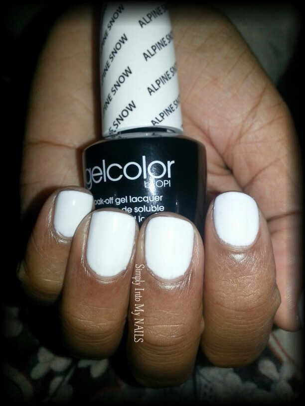 OPI Gelcolor Alpine Snow | 2. Manicures By Simply Into My ...