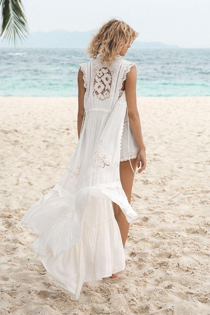 Spell Isla Bonita Embroidered Duster Dress