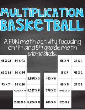 This is a fun and engaging activity for 4th and 5th grade students! It can be utilized many ways in your classroom.*Have students see how many 'points' they can earn in one class period.*Put students on teams and have them compete.*When students earn a certain number of points, they get to shoot a ball into a basket.*Students can complete the 1 point problems, then the 2 point problems, then the 3 point problems and add up their points.*Students can complete each set then shoot the number…