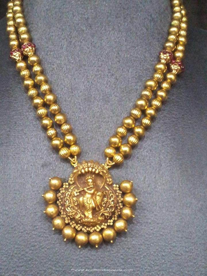 Gold Necklace Set, Gold Nagas Necklace set designs, Gold Antique Necklac set designs