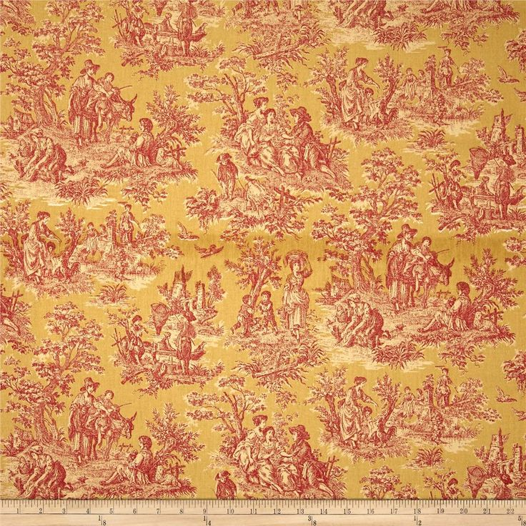 Waverly Charmed Life Toile Gold From Fabricdotcom Screen