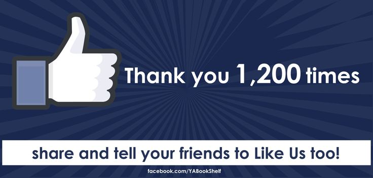 YABookShelf Facebook Image: Thank you post for reaching 1,200 Likes