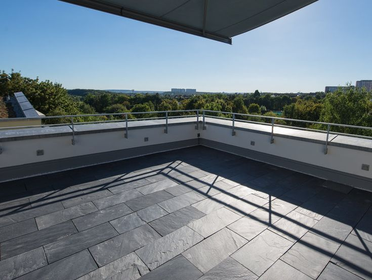 24 besten trendy moderne terrassen mit naturstein bilder - Porto schiefer fliesen ...