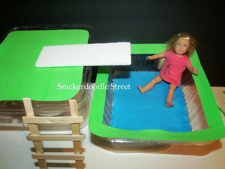 The AG Minis Of SNICKERDOODLE STREET: HTM Water Filled Pool (For Dolls Up To