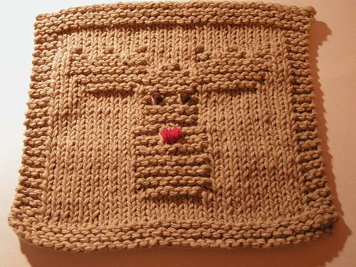 Reindeer Dishcloth pattern by Knitted Kitty~Carol