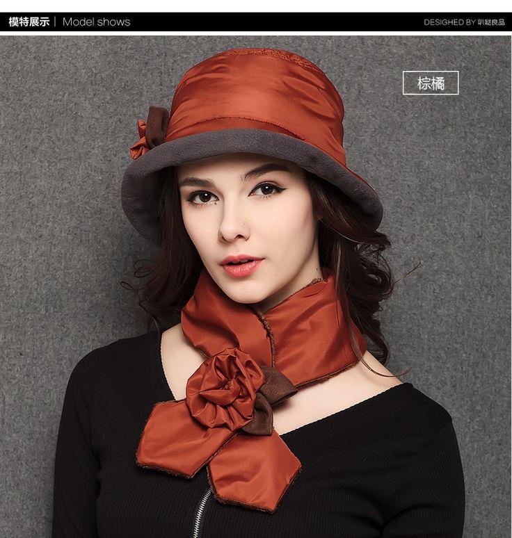 Леди зима и осень хлопок мягкий анти снег шляпа женщина теплую шапку шарф для одного набора женская мода hat шарф B 0778 купить на AliExpress